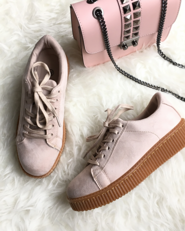 Baskets SUEDE – rose